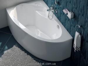 Ванна акриловая угловая асимметричная Koller Pool коллекция Boston L 150х95х44