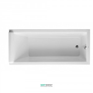 Ванна акриловая прямоугольная Duravit коллекция Starck 3 170х75х48 L 700003000000000