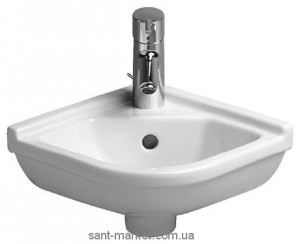 Раковина для ванной подвесная угловая Duravit Starck 3 43х38х17.5 белая 0752440000