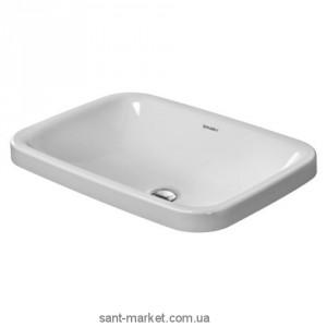 Раковина для ванной встраиваемая Duravit коллекция DuraStyle белая 372600000