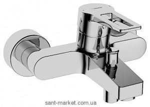 Смеситель однорычажный для ванны с коротким изливом Hansa коллекция Twist хром 0974 2185