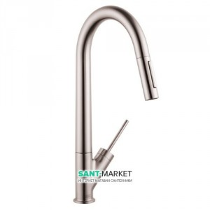 Смеситель для кухни с выдвижной лейкой Hansgrohe Axor Starck однорычажный 10821800