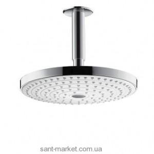 Верхний душ с тропическим душем Hansgrohe коллекция Raindance Select S хром/белый 26467400