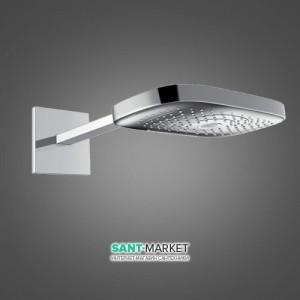 Верхний душ с тропическим душем Hansgrohe коллекция Raindance Select E хром 26468000