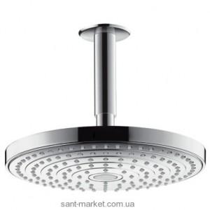 Верхний душ с тропическим душем Hansgrohe коллекция Raindance Select S EcoSmart хром 26469000
