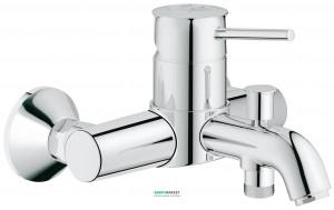 Смеситель однорычажный для ванны с коротким изливом Grohe коллекция BauClassic хром 32865000