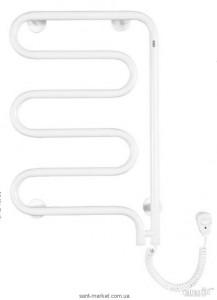 Электрический полотенцесушитель Instal-projekt Stick Electro 400х625х55 змейка белый SPIE-40/60RC35