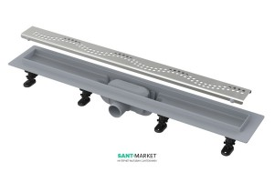 Желоб водосточный AlcaPlast боковой выпуск комбинированный затвор регулируемая высота APZ8-850