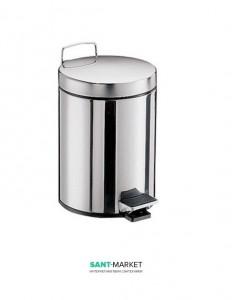 Ведро для мусора Emco System 2 28.5х20.5х27.5 с крышкой хром 3553 000 00