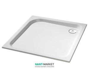 Душевой поддон квадратный Huppe Verano 100х100х8 с формованой панелью белый 235012.055