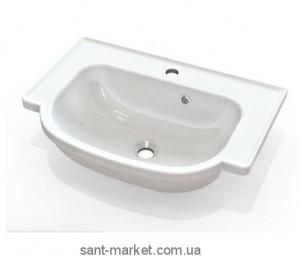 Раковина для ванной подвесная умывальник-столешница Marmite коллекция Alva белая 3006101