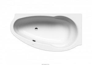Ванна стальная угловая Kaldewei Studio асимметричная 170x90 левосторонняя 222800010001