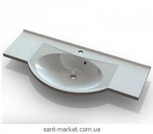 Раковина для ванной подвесная умывальник-столешница Marmite коллекция Katja белая 01185111103