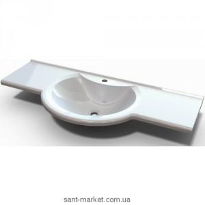 Раковина для ванной подвесная умывальник-столешница Marmite коллекция Laurine белая 01111121103