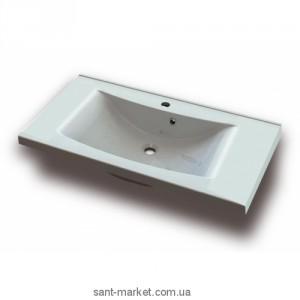 Раковина для ванной подвесная умывальник-столешница Marmite коллекция Lucia белая 01050101103