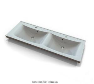 Раковина для ванной подвесная двойная Marmite коллекция Lydia белая 01163124203