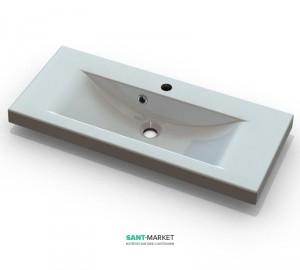 Раковина для ванной подвесная умывальник-столешница Marmite коллекция Selina белая 01055081103