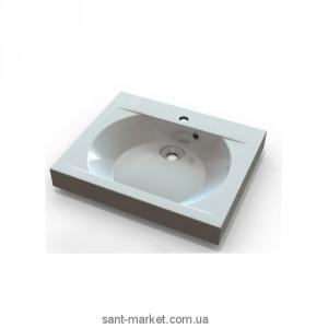 Раковина для ванной подвесная умывальник-столешница Marmite коллекция Robyn белая 01028121103
