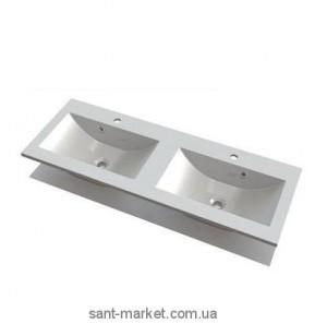 Раковина для ванной подвесная двойная Marmite коллекция Yrsa белая 12129124203
