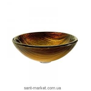 Раковина для ванной накладная Kraus золотисто-песочная GV-390-19mm