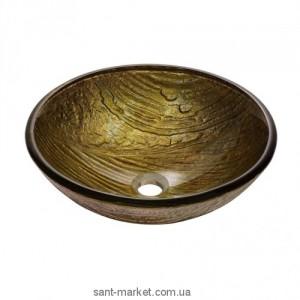 Раковина для ванной накладная Kraus бронзовая GV-395-19mm