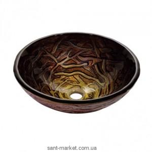 Раковина для ванной накладная Kraus коричневая GV-396-19mm