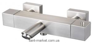 Смеситель с термостатом двухвентильный для ванны Haceka коллекция Mezzo матовый хром 403161
