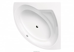 Ванна стальная угловая Kaldewei Punta Duo четверть круга 140x140 белая mod 910-3 228348030001
