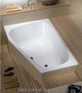 Ванна стальная встраиваемая Kaldewei Plaza Duo асимметричная 180x120 белая 237000010001