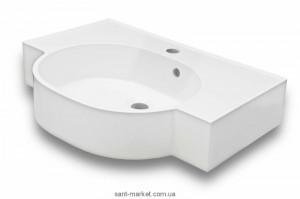 Раковина для ванной на тумбу умывальник-столешница Буль-Буль коллекция Comfort белая 0906101