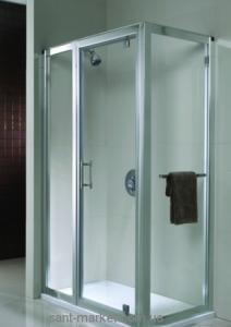 Kolo GEO 6 панель расширяющая 42 см, закаленное стекло, серебряный блеск GSKP42222003