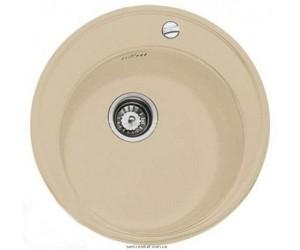 Мойка для кухни круглая TEKA CENTROVAL 45 TG врезная, гранит, бежевая 40143219