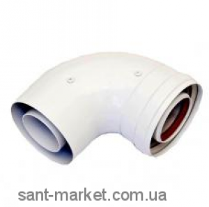 Ariston Коаксиальное колено M/F 90° Ø 60/100 3318003