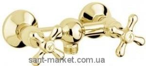Смеситель для душа настенный двухвентильный EMMEVI коллекция Deco Classic золото OR12002