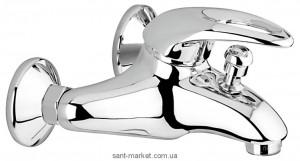 Смеситель однорычажный для ванны с коротким изливом EMMEVI коллекция Luxor сатин/хром SC7001RB