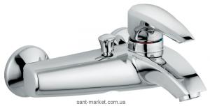 Смеситель однорычажный для ванны с коротким изливом EMMEVI коллекция Kali хром CR75001