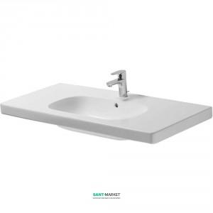 Раковина для ванной на тумбу умывальник-столешница Duravit коллекция D-Code 105х48х18 белая 03421000002