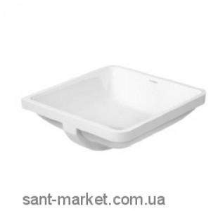 Раковина для ванной встраиваемая Duravit коллекция Starck 3 белая 0305430000
