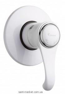 Смеситель для душа встраиваемый EMMEVI коллекция Tiffany белый/хром BC6009