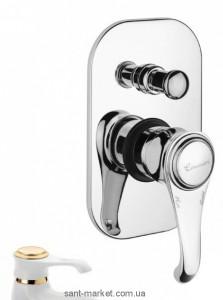 Смеситель скрытый (встраиваемый) EMMEVI коллекция Tiffany белый/золото BO6019