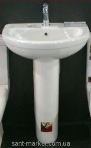 Раковина для ванной на пьедестал Volle коллекция Fiesta белая 13-75-022