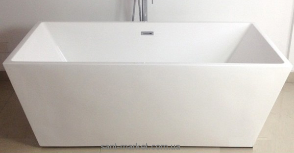 Ванна акриловая прямоугольная Volle 170х75x60 12-22-102 цельнолитая