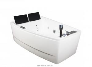 Ванна гидромассажная акриловая угловая Volle 170х120х63 12-88-100/R