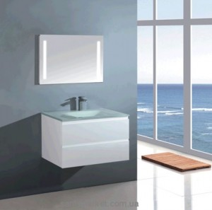 Раковина для ванной на тумбу умывальник-столешница Estandar коллекция Capricho прозрачная Capricho5