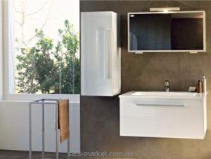 Kolpa-san Набор мебели для ванной белый/красный Hana 105