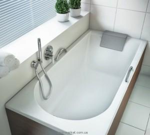 Ванна акриловая прямоугольная Kolo Mirra 140х70х42 XWP3340001 + подголовник