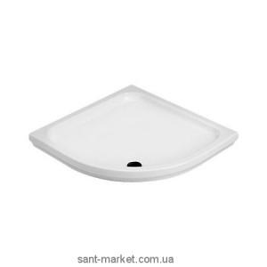 Душевой поддон керамический четверть круга Olympia Comino 90х90х11 белый 56.00