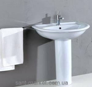Раковина для ванной на пьедестал Olympia коллекция Federica белая 08.40