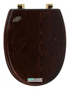 Сидение с крышкой для унитаза дерево/бр. Simas Arcade с микролифтом AR 009br