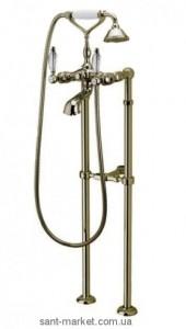 Смеситель двухвентильный напольный (отдельностоящий) с душем Webert Dorian бронза DO720801.065
